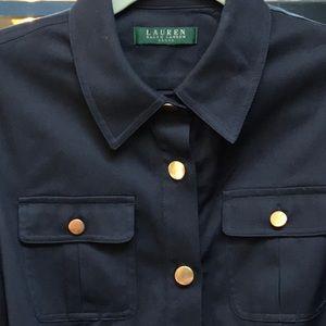 Ralph Lauren military style dress navy blue